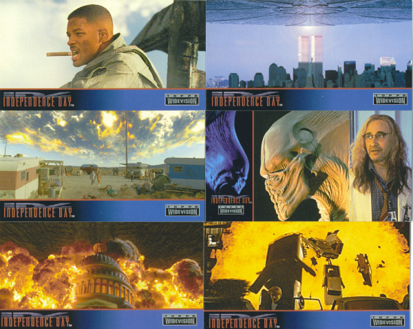 Independence Day Topps 1996 Complete Widevision Trading Card Set Will