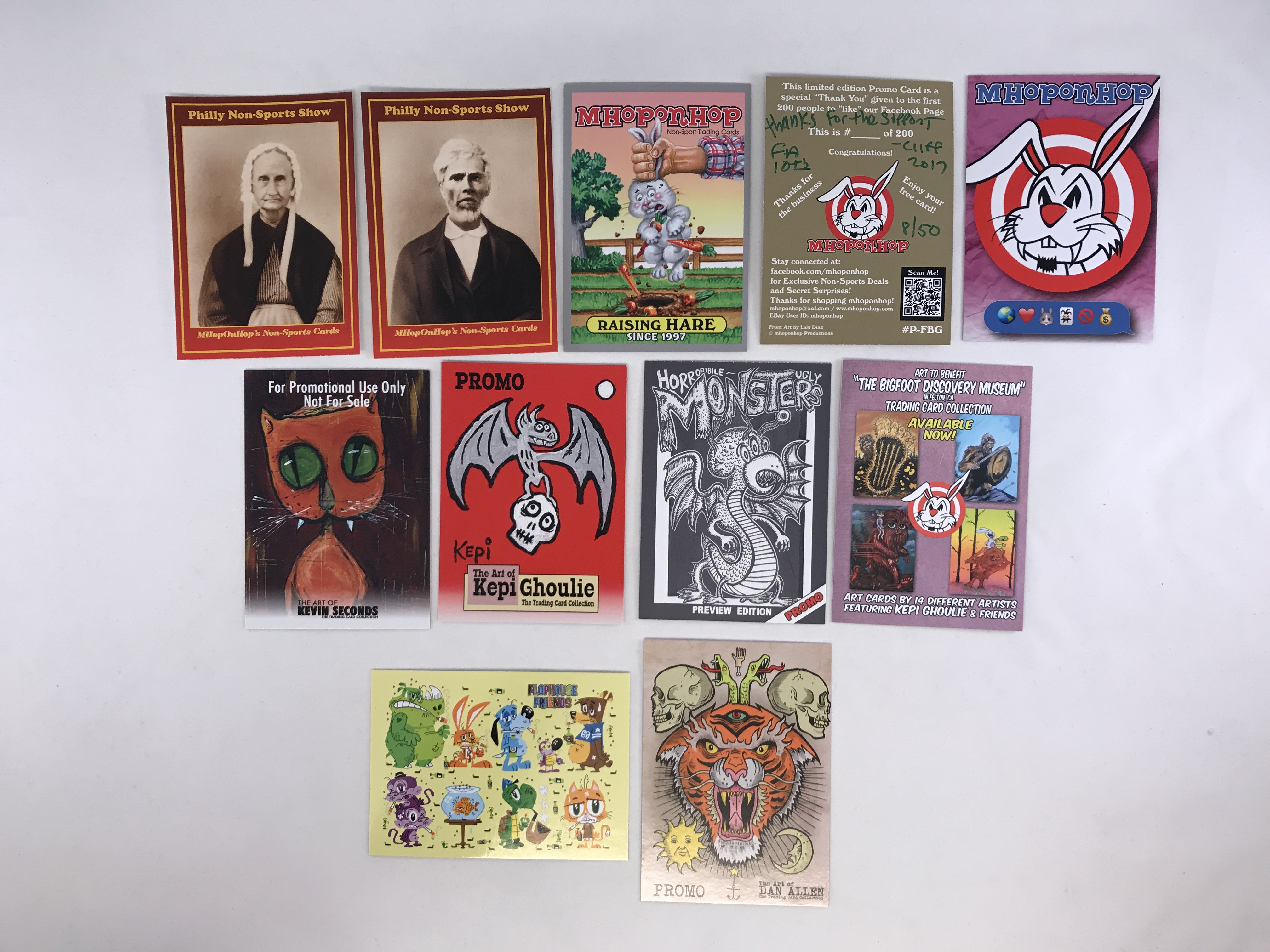 the complete featured artist promo card collection